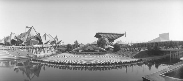 Ontario pavilion and Canadian pavilion at Expo 67